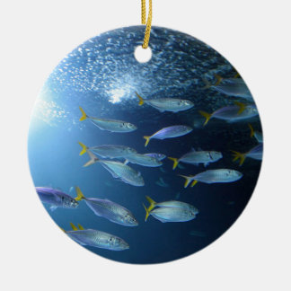 Yellowfin Tuna Round Ceramic Decoration