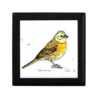 Yellowhammer bird gift box