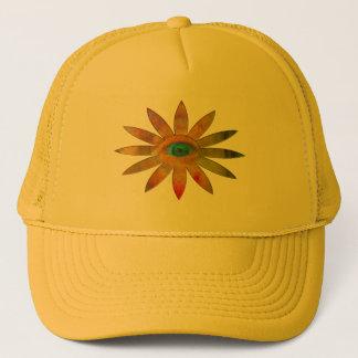 Yellowish Eye Flower Trucker Hat