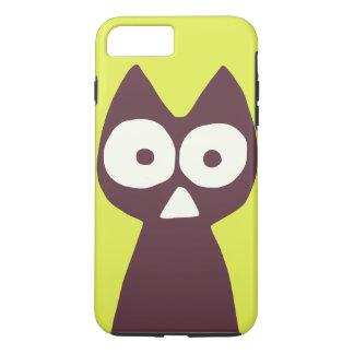 Yellowish green Purple Triangle Symbolic Cat iPhone 8 Plus/7 Plus Case