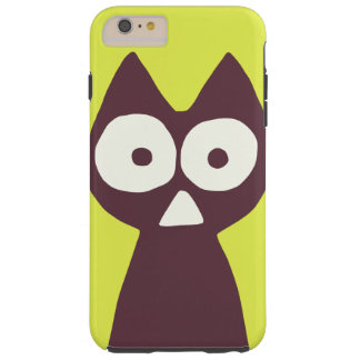 Yellowish green Purple Triangle Symbolic Cat Tough iPhone 6 Plus Case