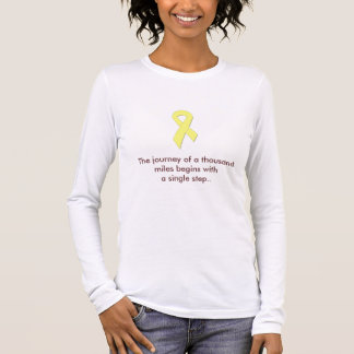 yellowribbon2, The journey of a thousand miles ... Long Sleeve T-Shirt