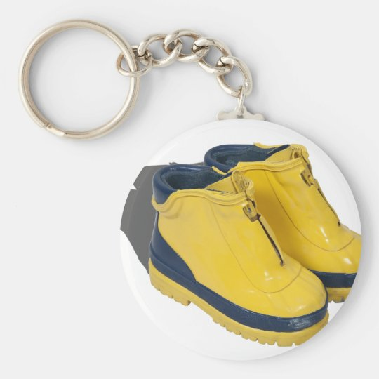 YellowRubberBoots042112.png Basic Round Button Key Ring