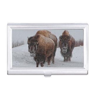 Yellowstone Bison Business Card Holder