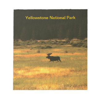 Yellowstone Bull Moose Notepad