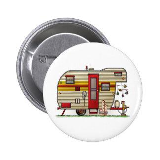 Yellowstone Camper Trailer 6 Cm Round Badge