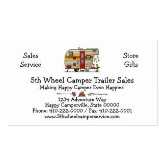 Yellowstone Camper Trailer M Pack Of Standard Business Cards