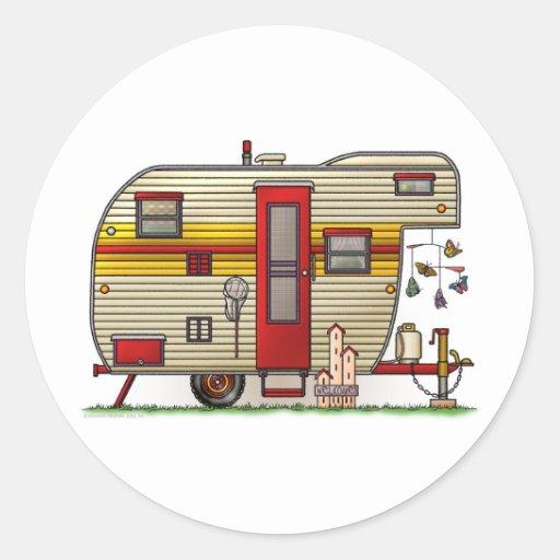 Yellowstone Camper Trailer Round Stickers