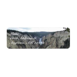 Yellowstone custom return address labels