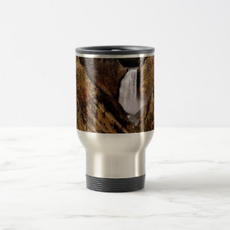 YELLOWSTONE FALL IN YELLOWSTONE NATIONAL PARK STAINLESS STEEL TRAVEL MUG