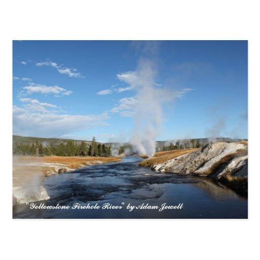 Yellowstone Firehole River Postcard