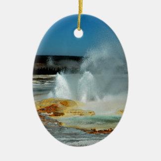 Yellowstone Geysers Christmas Ornament