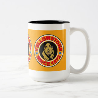 Yellowstone Gold Circle Two-Tone Mug