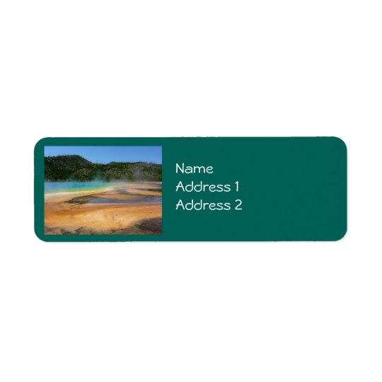 Yellowstone: Grand Prismatic Spring Return Address Label
