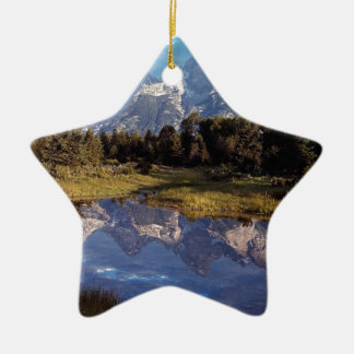 Yellowstone Grand Teton Reflections Christmas Ornament