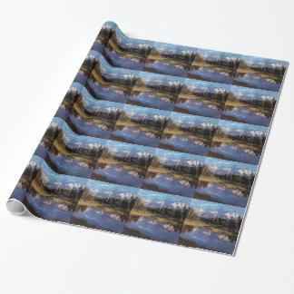 Yellowstone Grand Teton Reflections Wrapping Paper