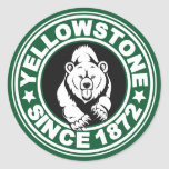 Yellowstone Green Circle Round Sticker