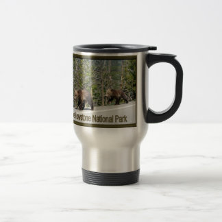 Yellowstone Grizzly Bear Mama and Cubs Coffee Mugs