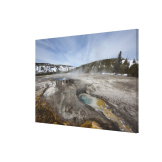 Yellowstone is famous for its geothermal canvas print