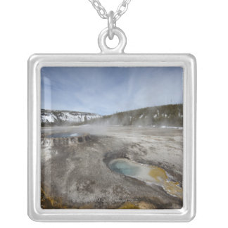 Yellowstone is famous for its geothermal silver plated necklace