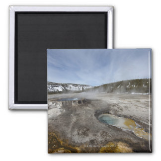 Yellowstone is famous for its geothermal square magnet