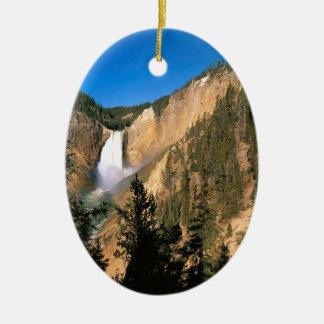 Yellowstone Lower Falls Wyoming Ceramic Oval Decoration