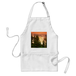 Yellowstone Mammoth Terraces Wyoming Standard Apron