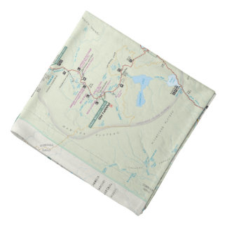 Yellowstone map bandana