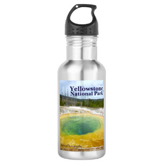 Yellowstone: Morning Glory Pool with text 532 Ml Water Bottle