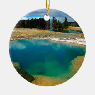 Yellowstone Morning Glory Pool Wyoming Christmas Ornament