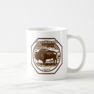 Yellowstone National Park 1937 Vintage Basic White Mug