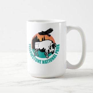 Yellowstone national park bison basic white mug