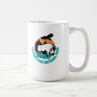 Yellowstone national park bison coffee mug