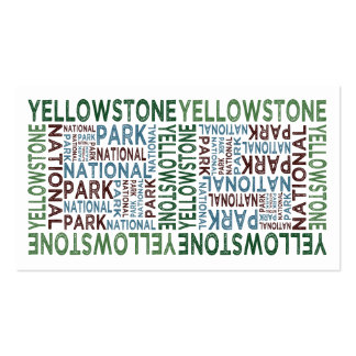 Yellowstone National Park Business Card