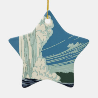 Yellowstone National Park Ceramic Star Decoration