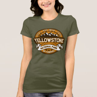 Yellowstone National Park Golden Yellow Logo T-Shirt