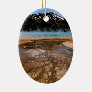 YELLOWSTONE NATIONAL PARK, GRAND PRISMATIC CHRISTMAS ORNAMENT