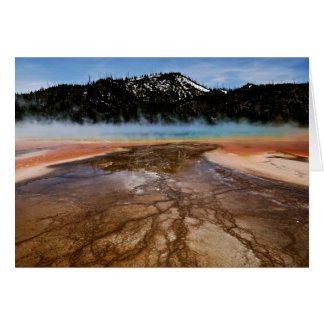 YELLOWSTONE NATIONAL PARK, GRAND PRISMATIC GREETING CARD