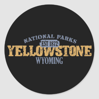 Yellowstone National Park in National Park Round Sticker