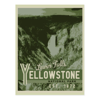 Yellowstone National Park Lower Falls Postcard