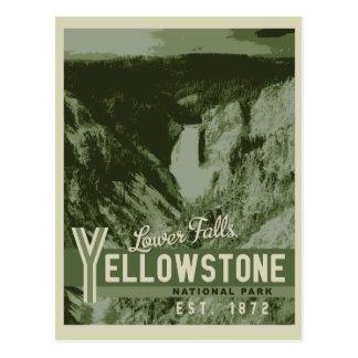 Yellowstone National Park Lower Falls Postcard