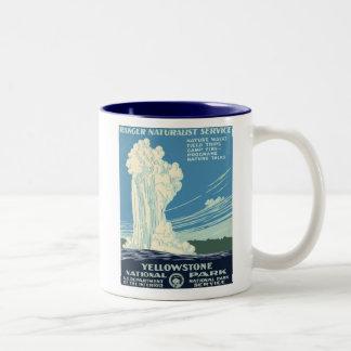 Yellowstone National Park Two-Tone Coffee Mug