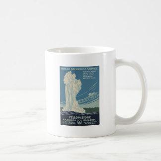 Yellowstone National Park Old Faithful Basic White Mug
