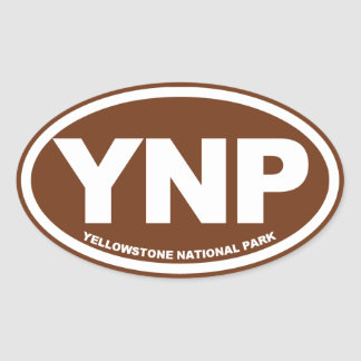 Yellowstone National Park Oval Stickers