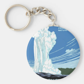 Yellowstone National Park poster Key Ring