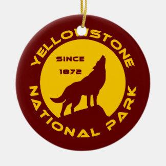 Yellowstone National Park Round Ceramic Decoration