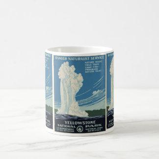 Yellowstone National Park Service Postcard Basic White Mug