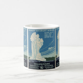 Yellowstone National Park Service Postcard Classic White Coffee Mug