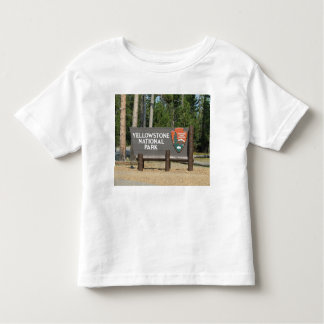 Yellowstone National Park, sign, Wyoming, U. S. Toddler T-Shirt