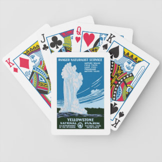 Yellowstone National Park US USA  Vintage Travel Bicycle Playing Cards